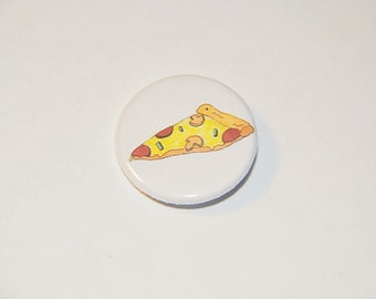 Yellow Pizza Pinback Button