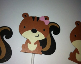 Chipmunk cupcake toppers