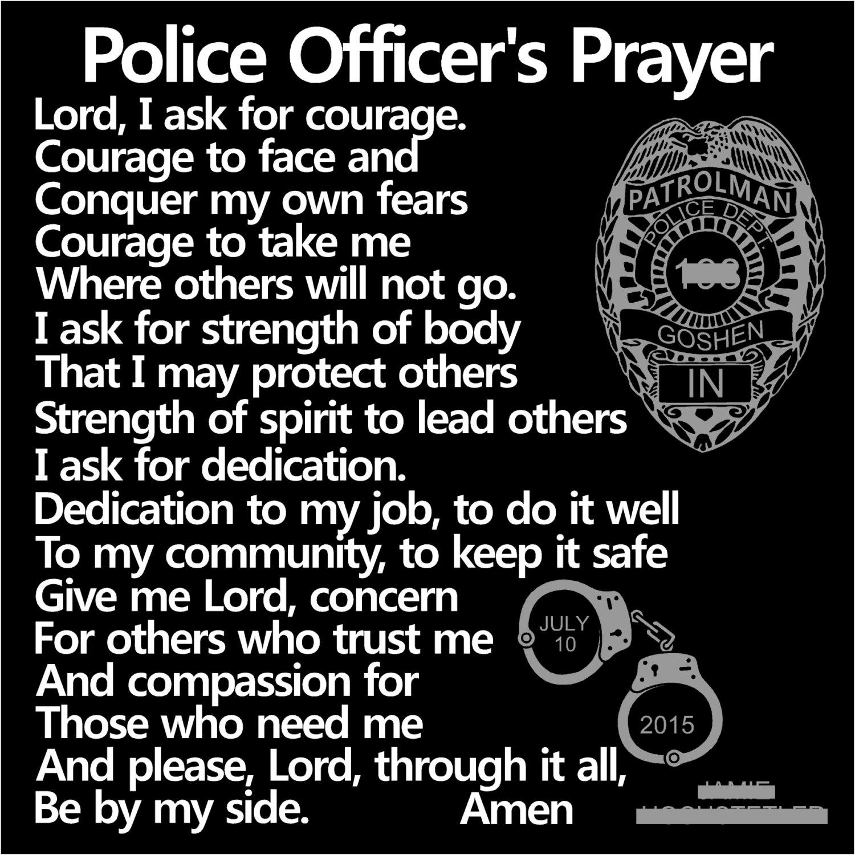 POLICE OFFICER'S Prayer - Policeman's Prayer - Police ...