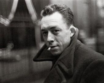 Albert Camus Poster, Writer, Author, Journalist, Philosopher, Absurdism