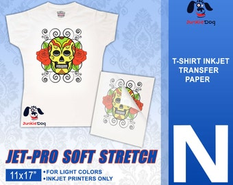 "11 x 17""  Iron On Paper 25 Sheets - Neenah Jet Pro SofStretch Inkjet Heat Transfer Paper - Iron On Transfer Paper 11 x 17"""