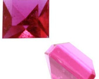 4mm Amethyst Square Acrylic Pointed-back Stones (144pcs)