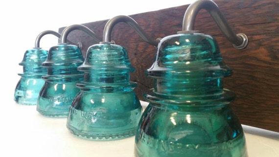 Insulator Glass Vanity Light : 24 or 36 Vintage Insulator 4 Light Vanity by recreatedlighting