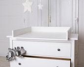 Wickelaufsatz, Wickeltischaufsatz für IKEA Hemnes Kommode. In Weiß! Neu!