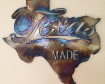 Texas Longhorns Metal Wall Art Decor By Cre8ivemetaldesigns