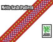 Loom Beading Pattern - Métis Sash