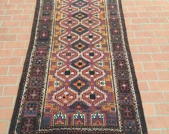 Semi antique salar khani baluch rug