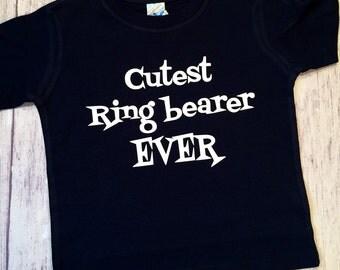 Cutest Ringbearer EVER, ringbearer t-shirt, ringbearer shirt