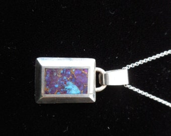 Sterling Silver Turquoise Pendant Necklace