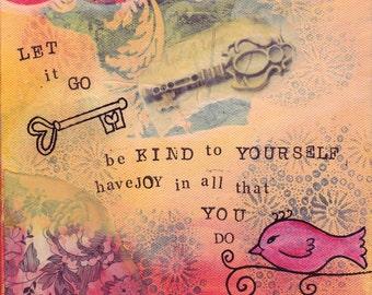 Let It Go Print from original mixed media Canvas
