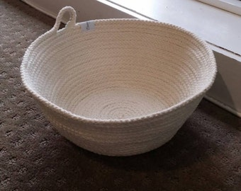 Cotton rope basket - natural