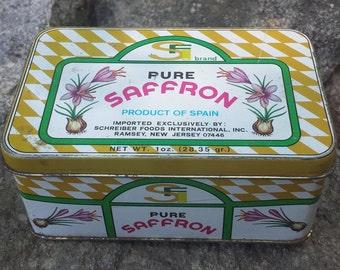 Vintage Metal Tin - Pure Saffron - Spain