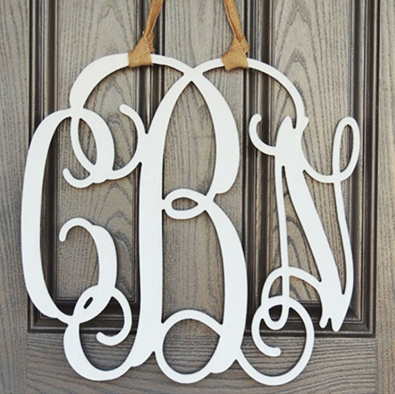Initial Home Decor: Wood Monogram Home Decor Wall Art Initial By GreatLakesCraft