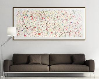 Original large abstract painting, Chinese painting, abstract art, abstract watercolor, abstract wall art