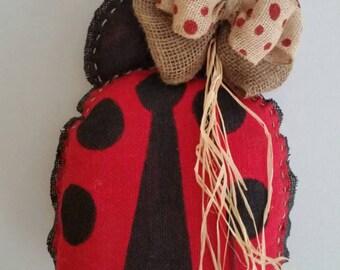 "Cute as a ""Bug"", Spring, Summer, Everyday, Burlap Ladybug, Door Hanger"