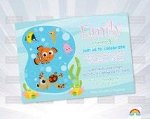 finding nemo invitation baby show er invitation
