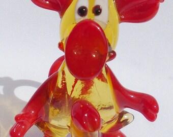 """Handmade Art Glass Figurine """"Devil"""" 2"""