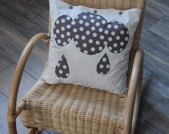 """Cushion """"Marcel under drops"""""""