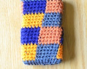 Phone Cover - Android Phone - Phone Case - Crochet - Tapestry Crochet - Checker Phone Cover