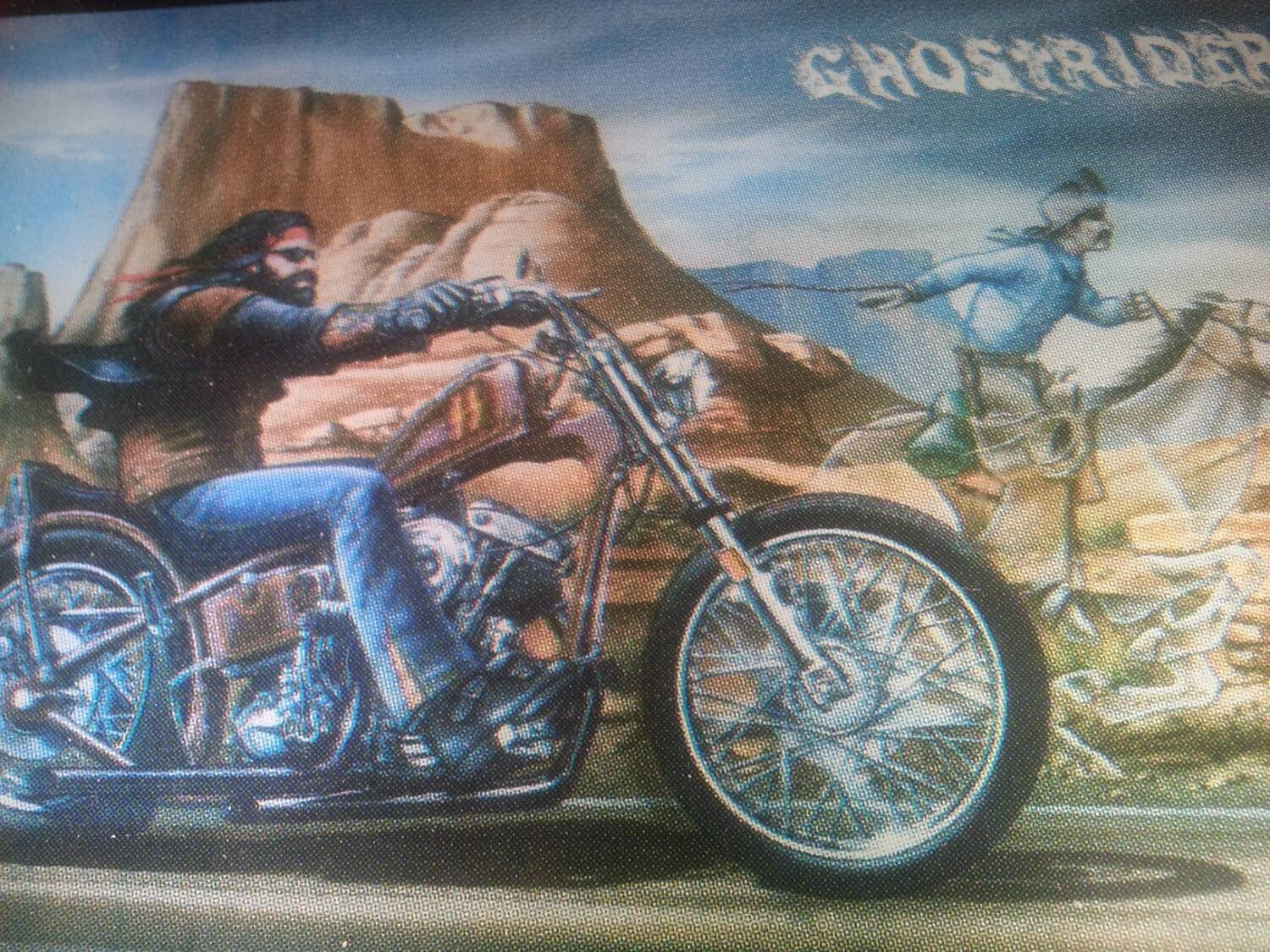 Ghost Rider David Mann Print on Glass by TheYahdSale on Etsy