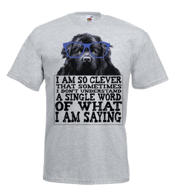 Oscar Wilde quote t shirt. Newfoundland dog funny tshirt.