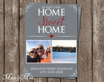 Home Sweet Home Card, New Home Invitation, House Warming Party, House Warming Invitation, Home Sweet Home Invitation, Digital, Printable