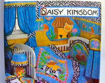 "Simplicity 8397, UNCUT, ""Daisy Kingdom"" Cornice, Quilt, Dust Ruffle, Hooded Towel, Diaper Stacker, Bib, Crib Bumpers, Headboard, and Pillow"