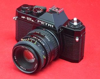 Petri MF 101 A with 50 mm 2.0 lens and 2x converter Pentax-K