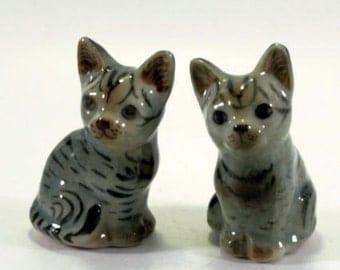 Cat - handpainted porcelain figurine 1 pair  2830