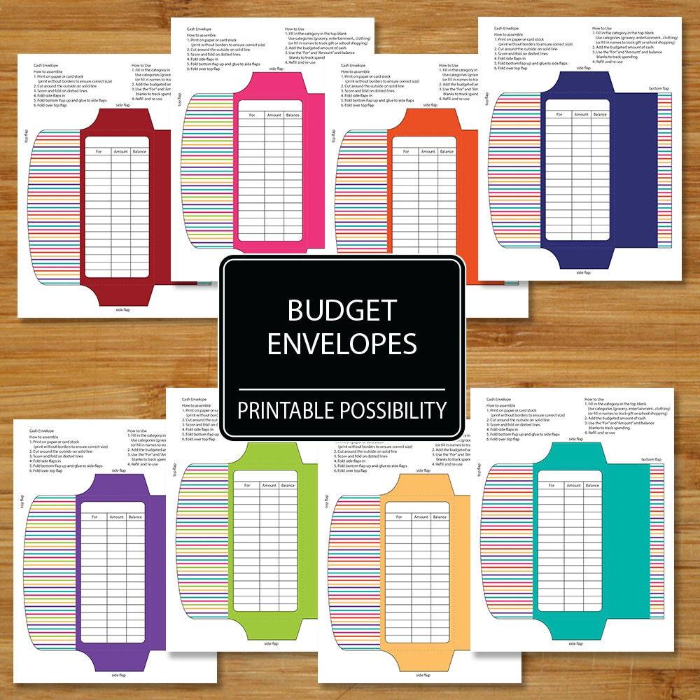 cash envelopes set of 8 budget envelopes budgeting