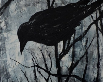 "Art Print - The Crows of Ottawa No.4 - 13"" x 17.5"""