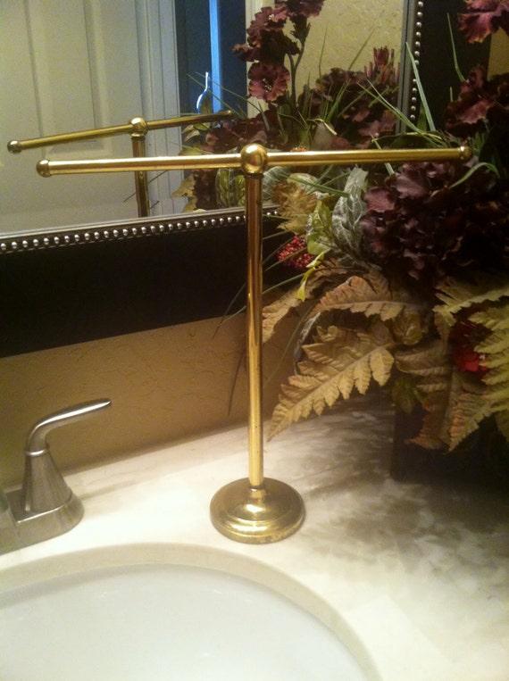 Countertop Hand Towel Holder : Brass Towel Holder, Countertop Hand Towel Stand, Vintage Bathroom ...