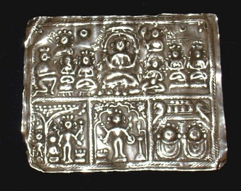 old talismanic silver plate