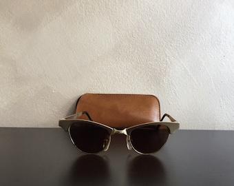 80s Handmade Metal Sunglasses Made in France