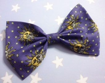 90's Inspired Sun Moon & Star Hair Bow