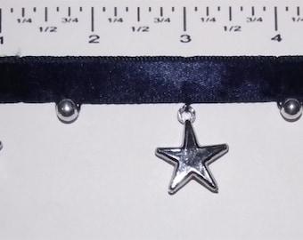Handmade beaded fringes - Silver Stars - 1 yard