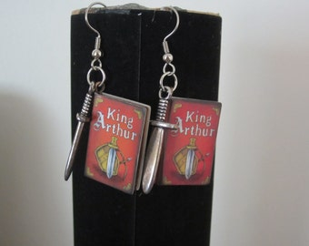 Fairytale Book Earrings- King Arthur
