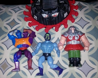 Sale! Master's of the Universe Lot, Roton, Skeletor, Ram Man, and Too Bad.