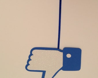 """Facebook """"Like"""" Photobooth Sign - Party Photo Booth prop on a stick - Set of 5, 10, 20  facebook like"""