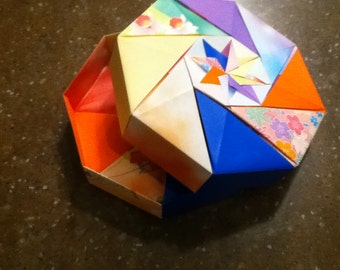 Colorful Octagonal Origami Box