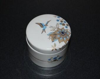 LIMOGES France Round Box Hummingbird