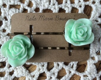 Mint Green Antique Bobby Pins