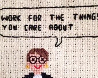 Ruth Bader Ginsburg (Notorious RBG) Quote Cross Stitch Pattern - Badass Women Series (1 of 8)