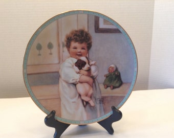 Pease Gutman Collector Plate Smile Smile Smile Childhood Reflections Plate Collection 1989