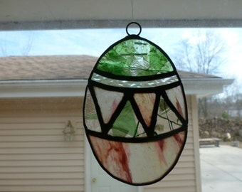 Stained Glass Easter Egg Ornament Suncatcher