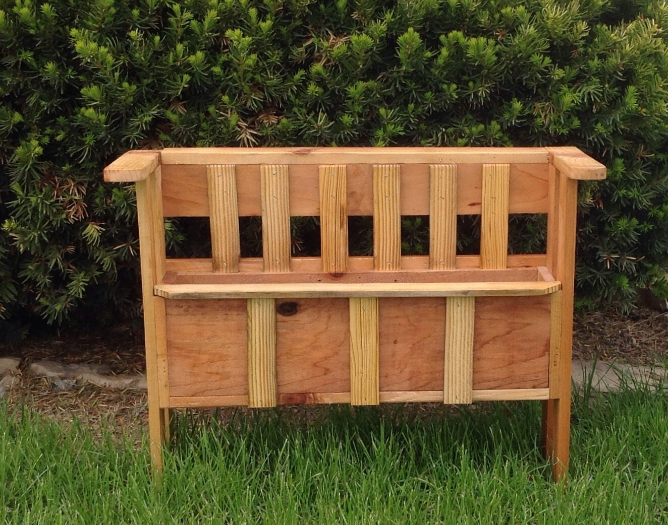 Wonderful image of Wood Flower Box Wooden Flower Stand Wood Planter by SeeWoodNThings with #C97802 color and 1324x1042 pixels