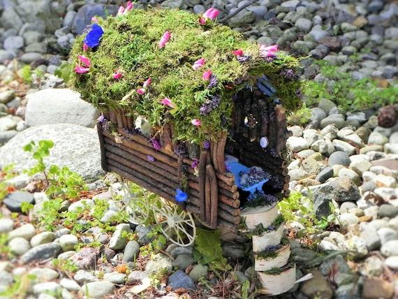 Fairy caravan fairy house fairy garden woodland by tinkerwhims - Maison jardin furniture nancy ...