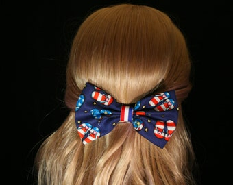 Patriotic Flip Flop Bows