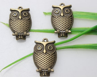 Own Charm ~  Antique Bronze Owl Charms 28*18mm