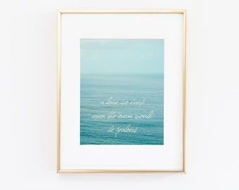 """Nautical Ocean Beach Print 